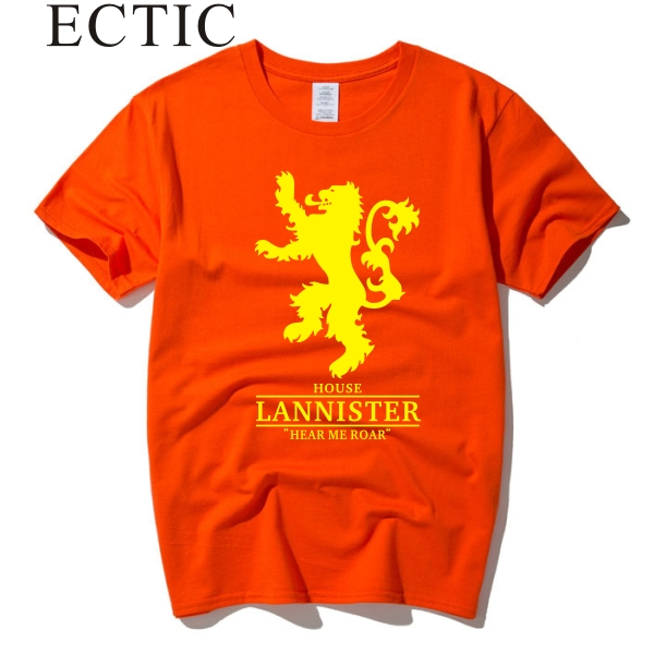 ECTIC Game Of Thrones Hear Me Roar House Lannister golden lion Mens Womens top tee T Shirt