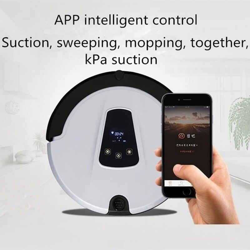 Aspirateur robot de balayage et d'aspiration avec caméra, WIFI, LED, télécommande