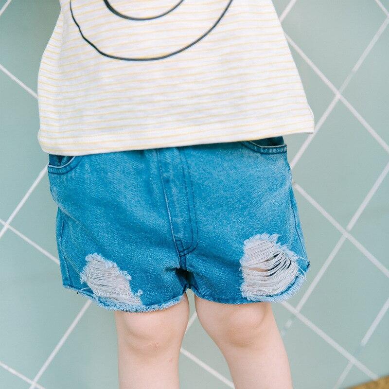 boy shorts summer soft denim jeans girls kids casual jeans shorts 4 12years Children denim shorts