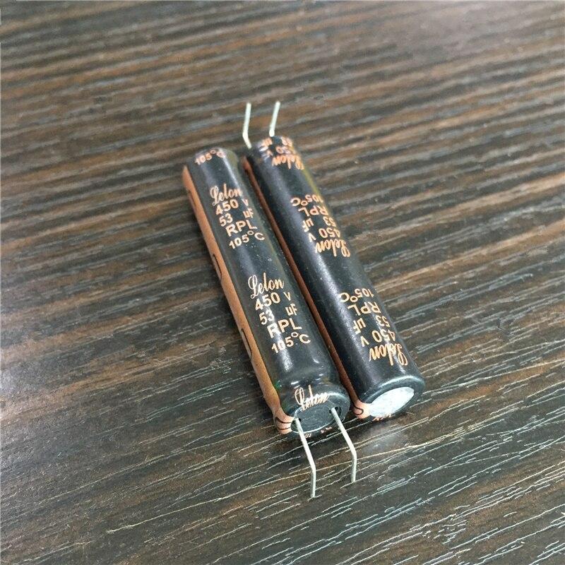 5pcs 53uF 450V LELON RPL Series 10x50mm 450V53uF Long Life PSU Aluminum Electrolytic Capacitor