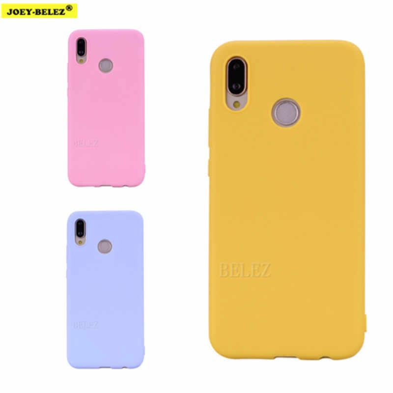 Матовый Силиконовый чехол ярких цветов для huawei P Smart Z Y9 Prime 2019 P20 P30 Pro mate 20 Lite Honor 7X 8X 8C 9 10 Nova 3i TPU чехол