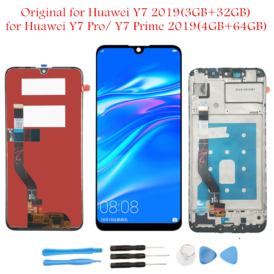 "Original 6.26"" for Huawei Y7 Pro Prime 2019 LCD Display Touch Screen Digitizer Assembly LCD Display TouchScreen Repair Parts-in Mobile Phone LCD Screens from Cellphones & Telecommunications"