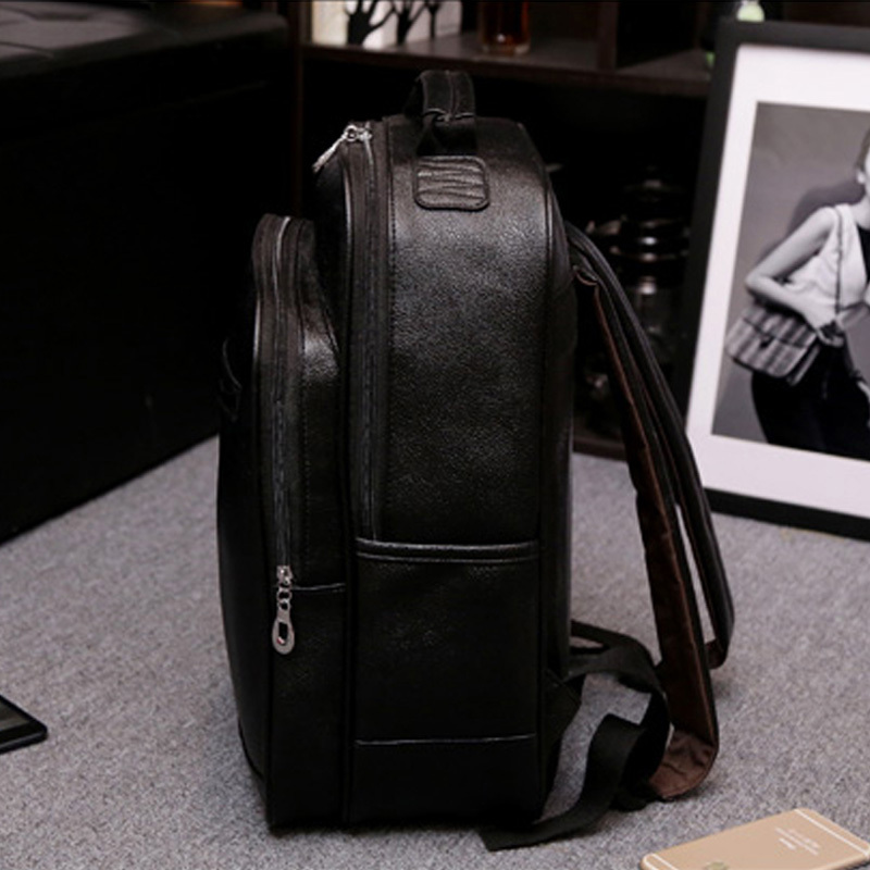 Best KD BIGBANG printing black white Leather cycling Backpack women  JV02