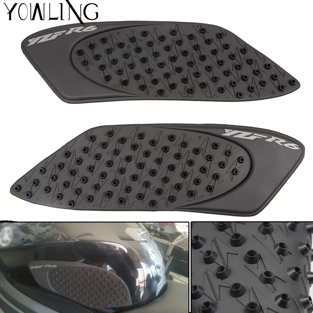 Motorcycle Accessories Decals Stickers Tank Pad For Yamaha YZF R6 2006 2007 Protector Sticker Decal Gas Knee Grip Tank Pad Side
