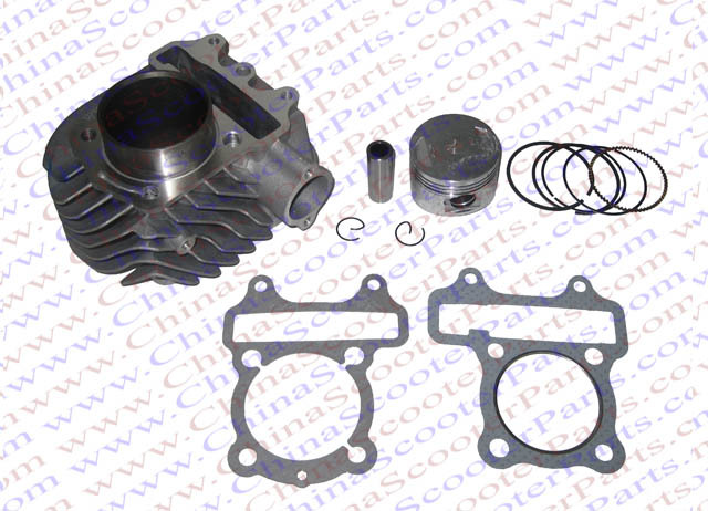 цена на 57.4mm Cylinder Piston Ring Gasket kit WH150 150CC ATV Quad Scooter Buggy Parts
