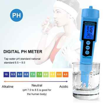 new 3 in 1 pH ORP TEMP Meter Water Detector Multi-parameter Digital Tri-Meter Water Quality Monitor Tester
