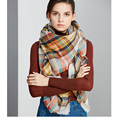 ZALA Winter Scarf plaid new designer  Acrylic Basic Blanket Wrap Shawl Women Female  Cashmere Christmas gift Free Shipping