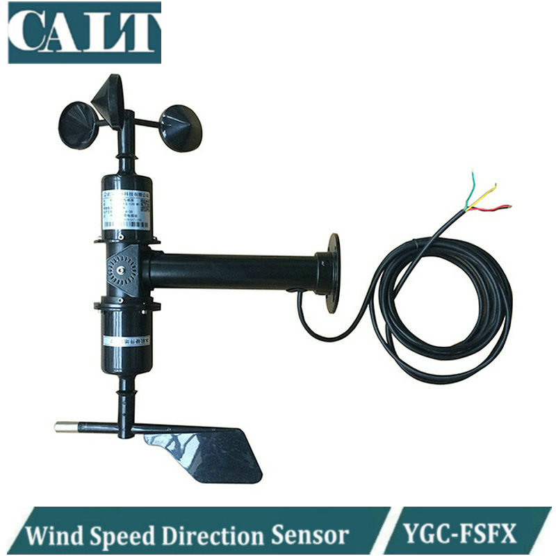 CALT Integrated wind speed and direction sensor YGC-FSFX wind vane ABS 3cup anemometer enhanced windsock wind vane double frame skeleton