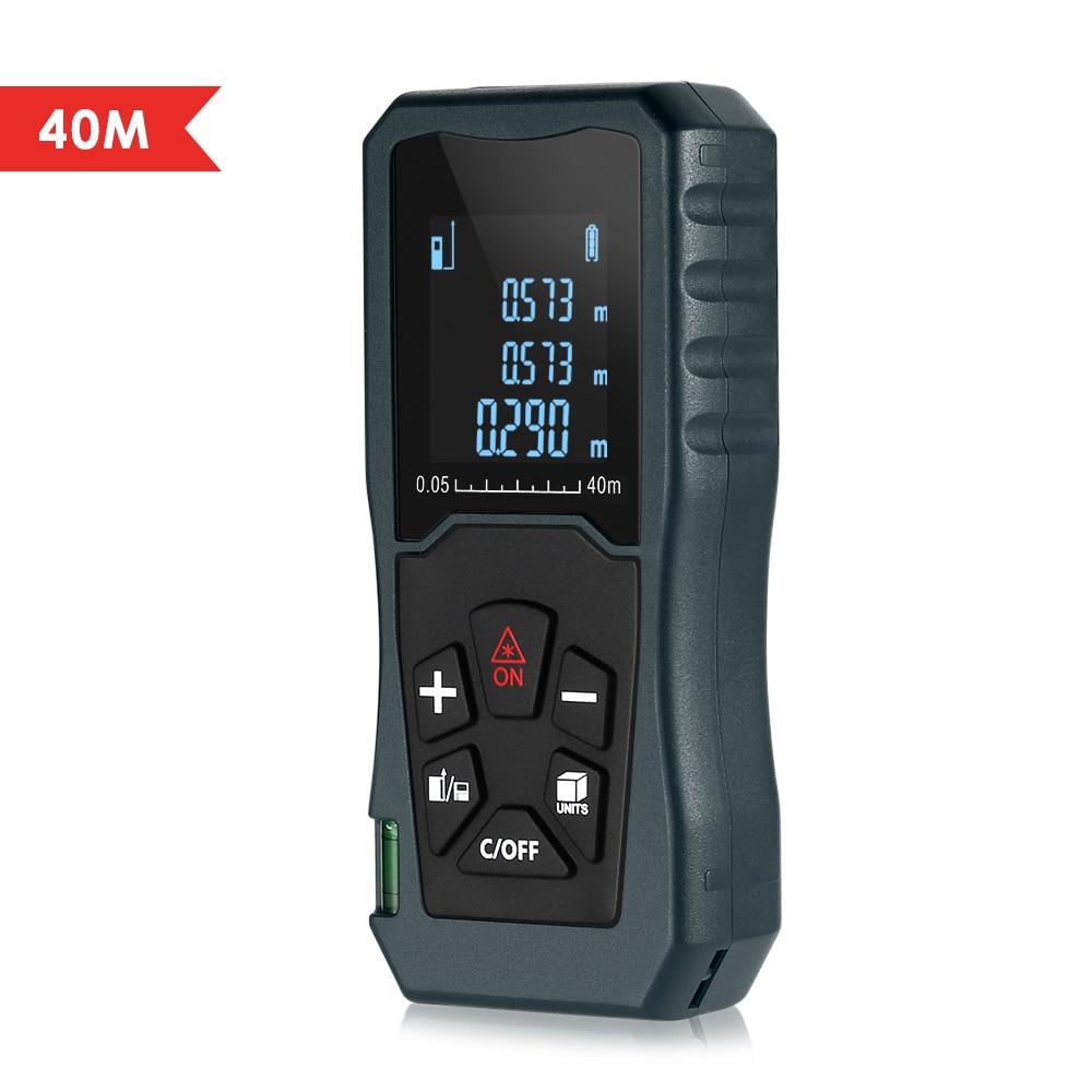40M Laser Distance Meter Multipurpose Handheld Rangefinder IP54 Laser Distance Meter Ruler Measuring Tape Distance Measurer цена