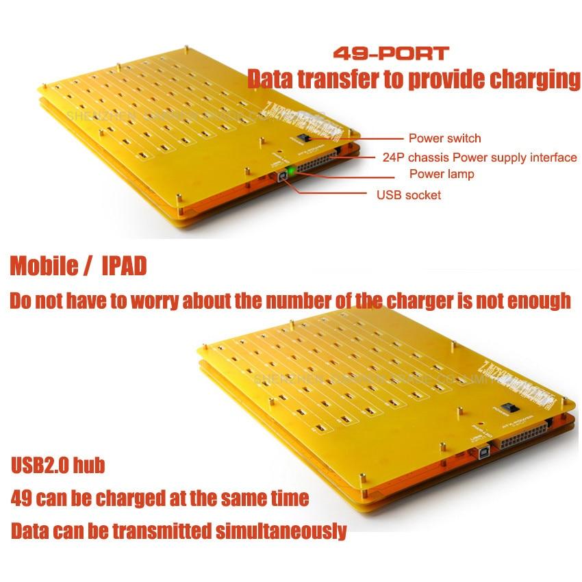 1PC Prefect 49 Port Hubs de alta velocidad / cargador con - Periféricos de la computadora - foto 3