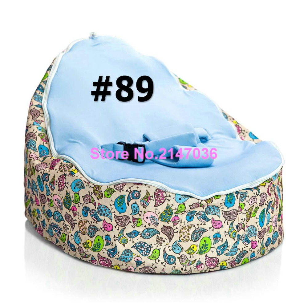 Yellow and blue birds Baby bean bag/baby beanbag bouncer/infant sleeping bed - portable kids bean bag sofa seat with 2 upper top 2016 hot baby beanbag with filler baby bean bag bed baby beanbag chair baby bean bag seat washable infant kids sofa cp10