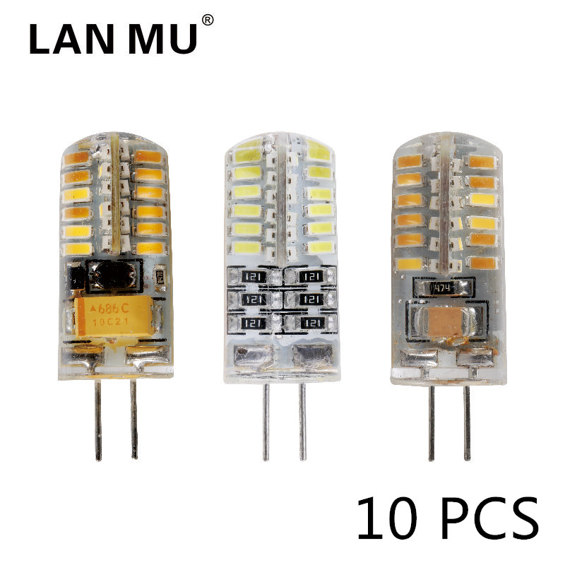 10pcs/lot G4 LED Bulb AC DC 12V 220V 3w 5w 6w Replace 10w 20w 30w halogen Light 360 Beam Angle G4 Christmas LED Lamps 10pcs led g4 lamp 220v g4 led bulb light ac dc 12v 10w 6w smd 2835 3014 spotlight 360 beam angle replace for crystal chandelier