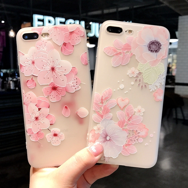 pretty nice 57f27 59881 US $1.89 5% OFF Clear Cartoon Cute Girl Case For iphone 7 iphone 6 s 6s  plus Retro Rose Luxury Soft Fundas For iphone 7 8 Plus Case Back Cover-in  ...