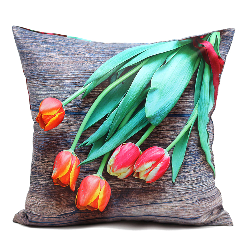 high quality 40 45 50 60cm sofa cushion cover plank and tulip pillow cover outdoor cushion