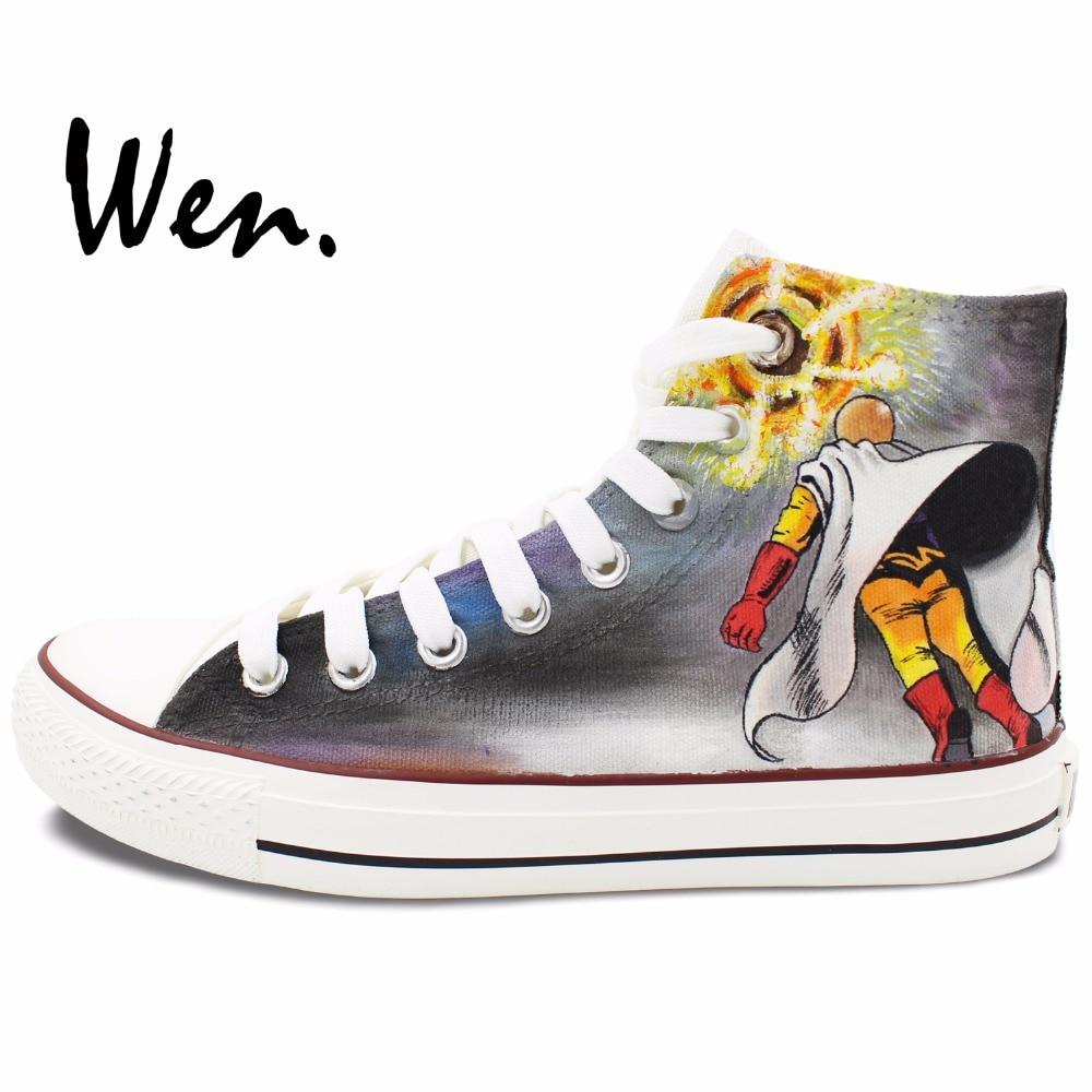 Wen Dizajn Custom Ručno oslikane cipele One Punch Man Anime Cipele - Tenisice - Foto 3