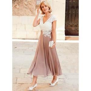 f3aafa82850 lakshmigown Mother of The Bride Dress Tea-Length Gowns