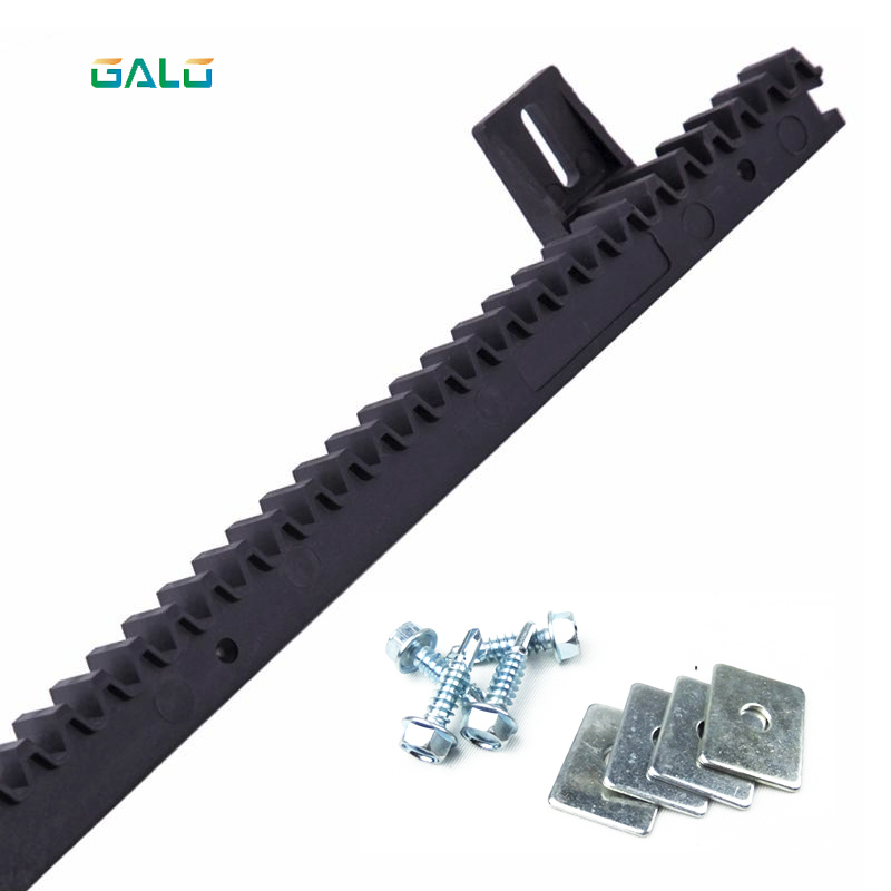 GALO nylon gear rack rail for auto sliding gate opener 1 m per pc 1 order automatic sliding gate opener drive gate for 3600lbs 1800kg door gate with remote controller