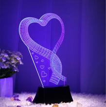 3D Color Changing Atmosphere Lamp Colorful LED Night Light USB and Battery charged,Best Gift Present