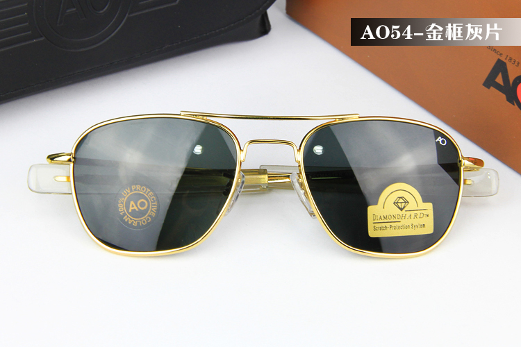 192c6d3bfe American Optical Diamond Hard Scratch 100% UV Protection Tempered Glass  Unbreakable Sun Glasses Military Special Sunglasses AO54-in Sunglasses from  Apparel ...