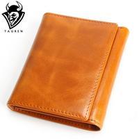 100 Women Genuine Leather Wallet Oil Wax Cowhide Purse Woman Vintage Lady Clutch Coin Purses Card