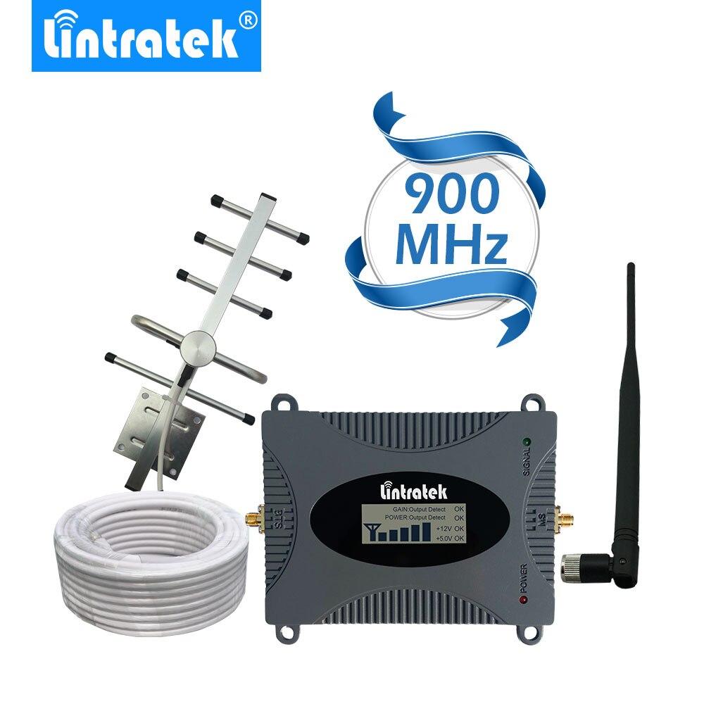 Lintratek Krachtige Gsm Repeater 900 Mhz Lcd-scherm Gsm Cellulaire Signaal Booster Umts 900 Mhz Mini Telefoon Versterker Upgrade #2017