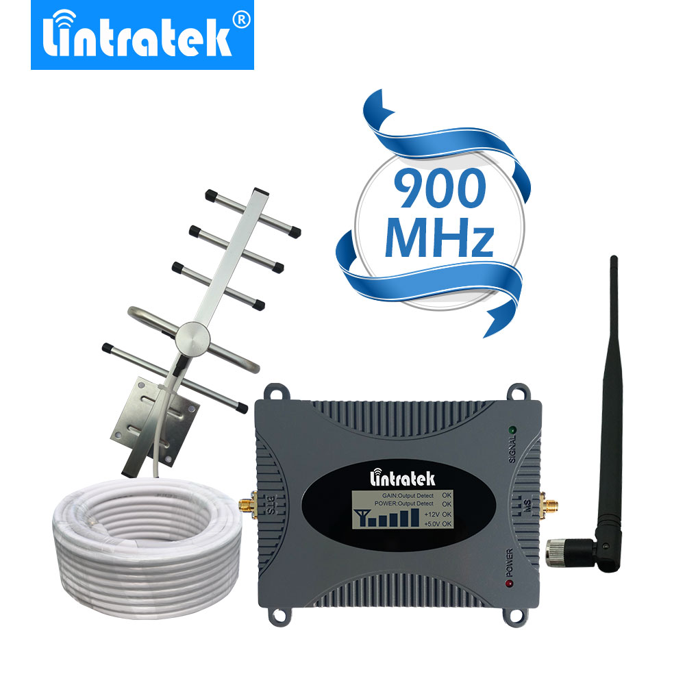 Lintratek Kuat GSM Repeater 900 MHz LCD Display GSM Penguat Sinyal Seluler UMTS 900 MHz Mini Telepon Amplifier UPGRADE # 2017
