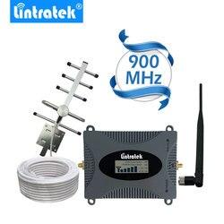 Lintratek poderoso gsm repetidor 900 mhz display lcd gsm celular impulsionador de sinal umts 900 mhz mini amplificador de telefone atualização #2017