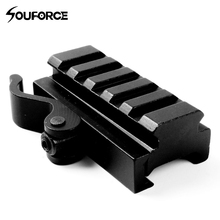 QD Quick Release Mount Adapter 5 Slots Fit 20mm Picatinny Weaver Rail Base Berburu Gun Aksesoris