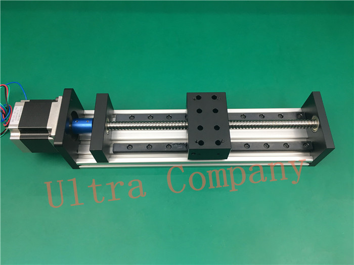 High Precision GX80*50 Ballscrew 1204 1700mm Effective Travel+ Nema 23 Stepper Motor CNC Stage Linear Motion Moulde Linear high precision gx80 50 ballscrew 1204 1300mm effective travel nema 23 stepper motor cnc stage linear motion moulde linear