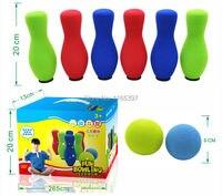 1 bộ fun mềm cao su xốp trẻ em đầy màu sắc bowling chơi set trẻ em tuổi teen PE vật lý đào tạo đội ngũ hoạt động thể thao trò chơi đồ chơi