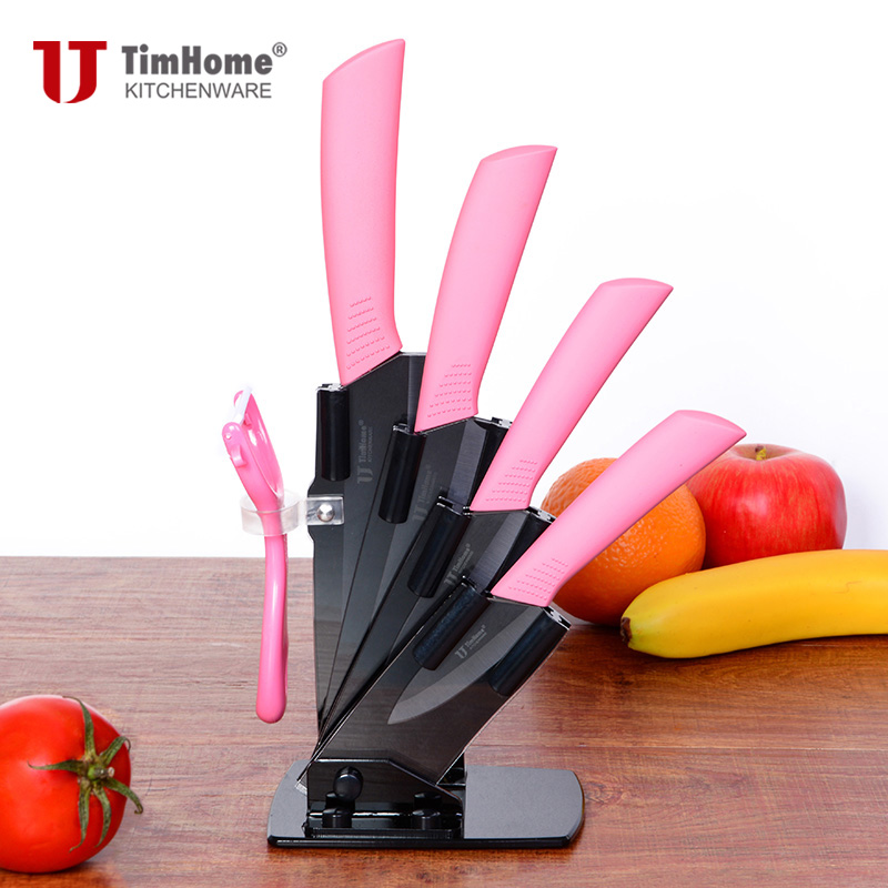 "Ceramic Knife Set 3"" 4"" 5"" 6"" inch  Black Blade Zirconia Blade Different Handle Colors Available Paring Top Quality"