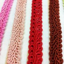 YACKALASI adornos trenzados de 20 Yds ciempiés, Apliques de encaje GIMP Diy, cintas de ganchillo, decoración ligera de vestido de nailon de 1,2 cm de ancho