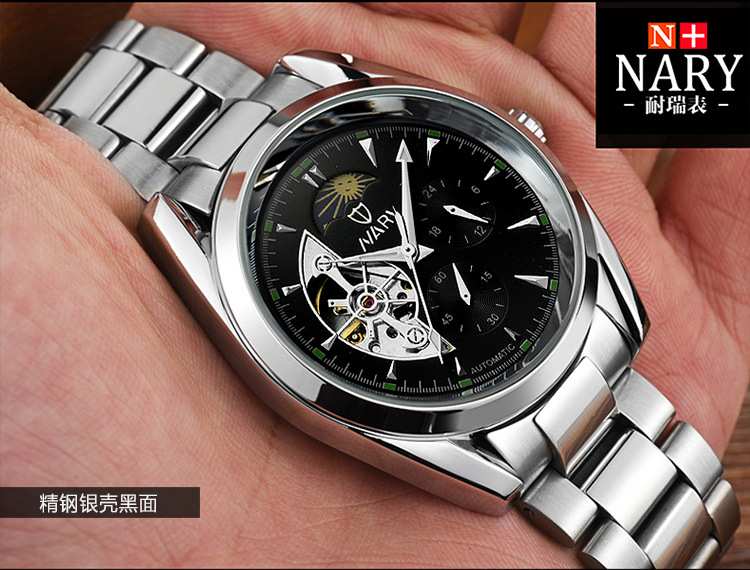 DIDUN montre hommes de luxe en acier quartz montre hommes d'affaires chronographe montre sport montres 30 M étanche