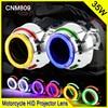 CNM809 2 0 Inch 35W Car Motorcycle H1 H4 H7 Bi Xenon HID Projector Lens Car
