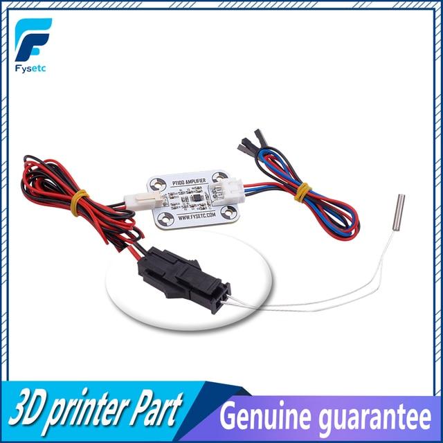 Hot End PT100 Sensor Upgrade Kit PT100 Temperature Control Panel Sensor Heating Block 3D Printer Accessories