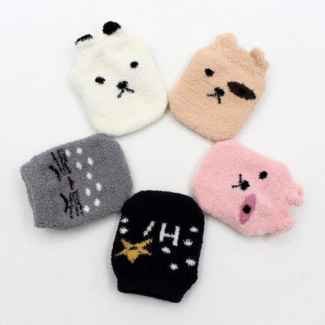 Non-slip Baby Socks Autumn Winter Coral Fleece Socks Warm Toddler Boy Girls Floor Socks Infant Clothing Accessories Thicken 3