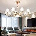 Candelabro LEVOU moderna sala de estar suspenso luminárias quarto lâmpadas Americano iluminação casa luminárias sala de jantar luzes de suspensão