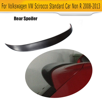 สีดำ FRP รถหลังคาปีกสปอยเลอร์สำหรับ Volkswagen VW Scirocco มาตรฐานเท่านั้น 08-13 R