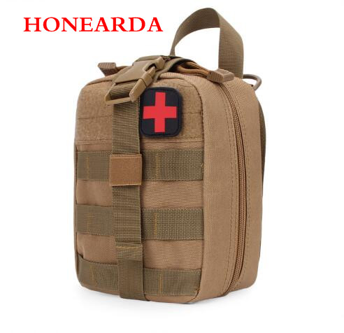 50pc Nylon Waterproof Tactics MOLLE Accessory First Aid Package Outdoor Medical Package Receiving Waist Pack
