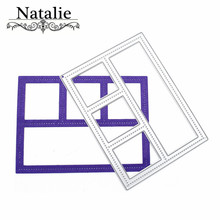 Rectangle Frame Cutting Dies DIY Craft Pressing Dies Scrapbooking Metal Embossing Stencil Photo Album New Arrival Decorations