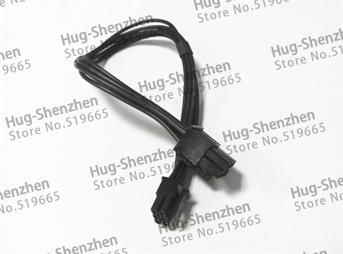 Mac pro G5 mini 6pin to pcie 6pin 6 pin video card power cable support for GTX480 gtx680--5pcs/lot