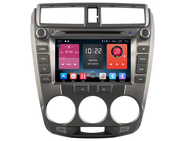 Android 6.0 CAR Audio DVD player FOR HONDA CITY 2008-2012 gps car Multimedia head device unit receiver support 4G BT WIFI