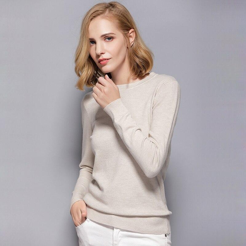 2018 Koreanische Stil Stricken Pullover Herbst Winter Pullover Frauen Langarm Pullover Frauen Grundlegende Pullover Frauen Tops Femme Ns4068 Hohe Sicherheit
