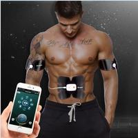 Electric Massager Smart EMS Abdominal Muscle Trainer TENS Unit Electrotherapy Back Pain Relief ABS Stimulator Massage