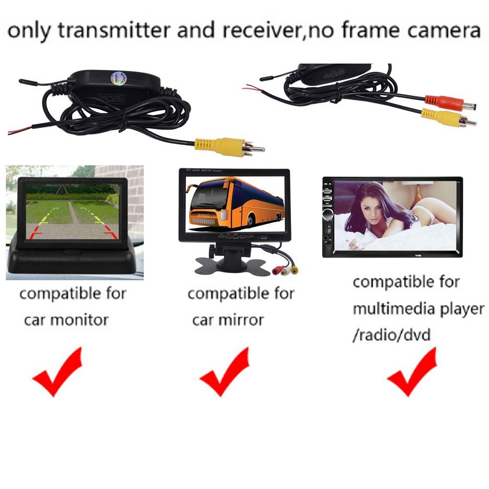 Беспроводная камера ночного видения IR заднего вида, ЕС, рамка для номерного знака, Автомобильная камера заднего вида, водонепроницаемая камера заднего вида для монитора, gps - Название цвета: wireless kit for dvd