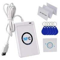 RFID Kartenleser Schriftsteller RFID Kopierer Duplikator Klon Freies Software USB S50 13,56 MHz M1 Karten UID Beschreibbar Keyfobs NFC ACR122U