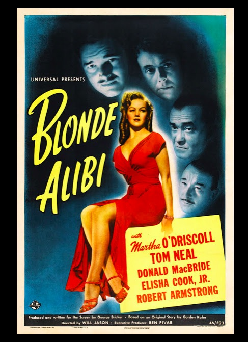 Blonde Alibi Beauty Classic Movie Film Noir Retro Vintage Poster Canvas Painting DIY Wall Paper Home Decor Gift image