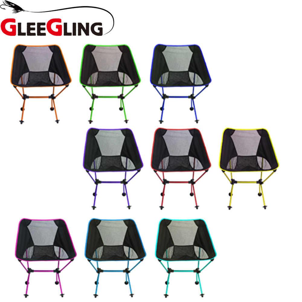 GLEEGLING стул для рыбы легкий Кемпинг складывание стула кемпинг рюкзак рыболовные стулья Красный Синий Оранжевый Зеленый FLC01