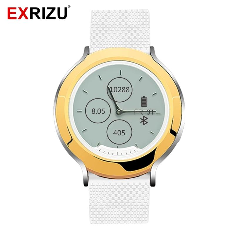 EXRIZU M6 TPU Strap Smart Watch 5ATM Waterproof Sport Dynamic Heart Rate Monitor Digital LCD Hands