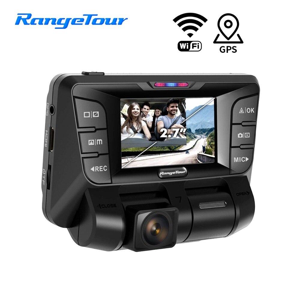 Gama Turnê B90D Wi-fi Câmera Do Carro DVR Traço Cam Novatek 96660 Lente Dupla Dupla 1080 p Gravador De Vídeo G- sensor de